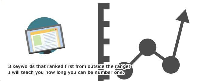 圏外から1位になった3キーワード!どのくらいの期間で1位になれるのか教えます。