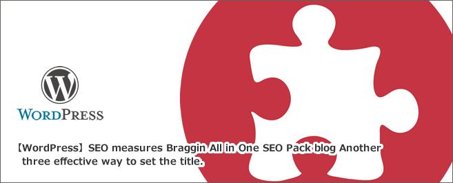 【Wordpress】SEO対策ブラグインAll in One SEO Packのブログ別 3つの効果的なタイトル設定方法