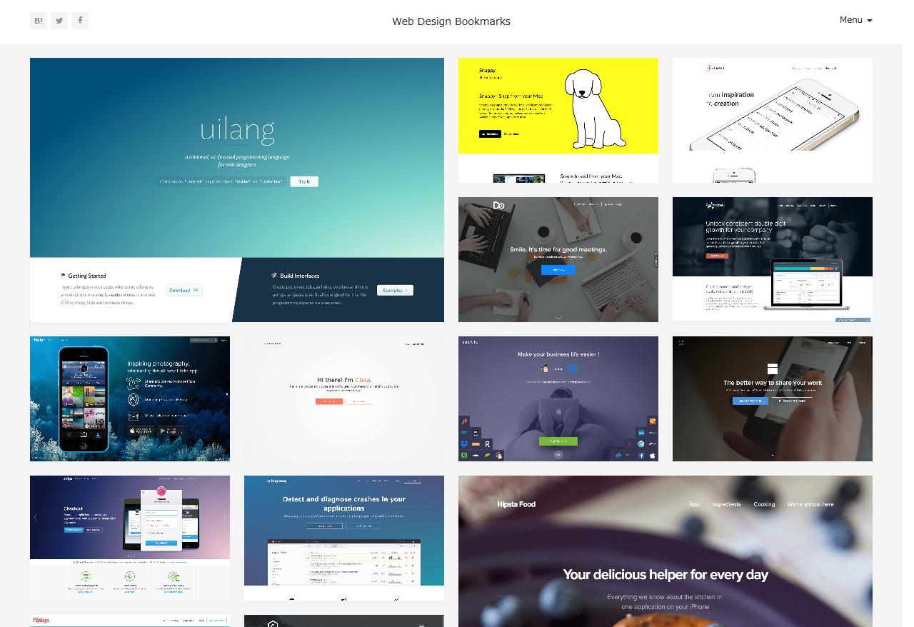 Web Design Bookmarks | Webデザインの参考になるトレンドまとめ