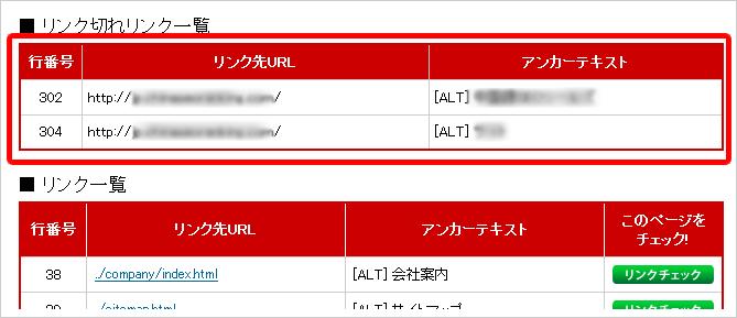 リンク切れチェックツール | インデックス状況調査ツール takotubo.jp イメージ②