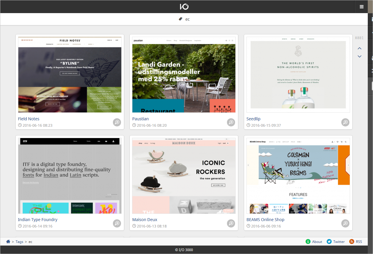 ec | I/O 3000 | Webデザインギャラリー