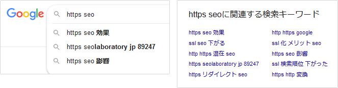 Google検索の関連する検索キーワード