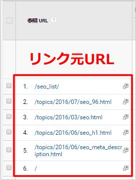 参照サイトからリンク元URLを調べる イメージ③