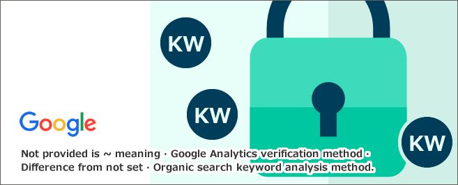 not providedとは~意味・Googleアナリティクス確認法・not setとの違い・オーガニック検索キーワード分析方法