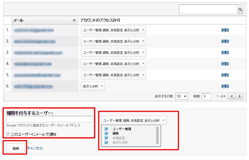 Googleアナリティクスでユーザー/管理者を追加する方法 イメージ③