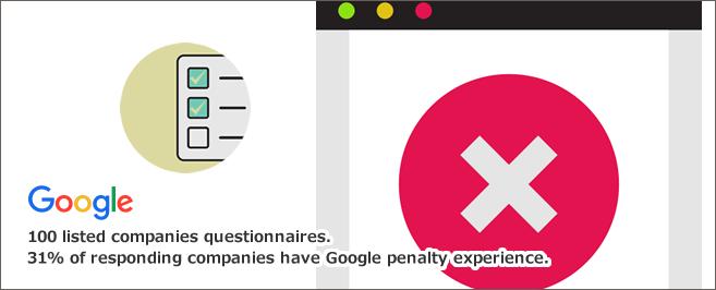 上場100社アンケート。回答企業の31%がGoogleペナルティ経験あり
