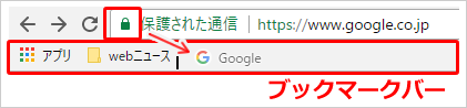 Google Chromeのブックマーク追加 イメージ③