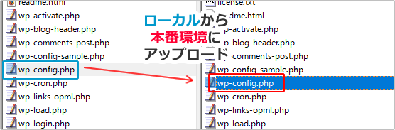 wp-config.phpファイルを設定する イメージ②