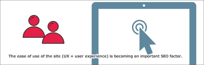 サイトの使いやすさ(UX=ユーザーエクスペリエンス)が重要なSEO要因になってきている