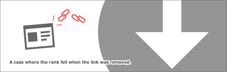 被リンクを外したら、順位が下落した事例