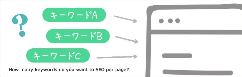 SEOするキーワード数は、1ページあたり何個がいいのか?