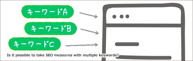 複数のキーワードでSEO対策ができますか?