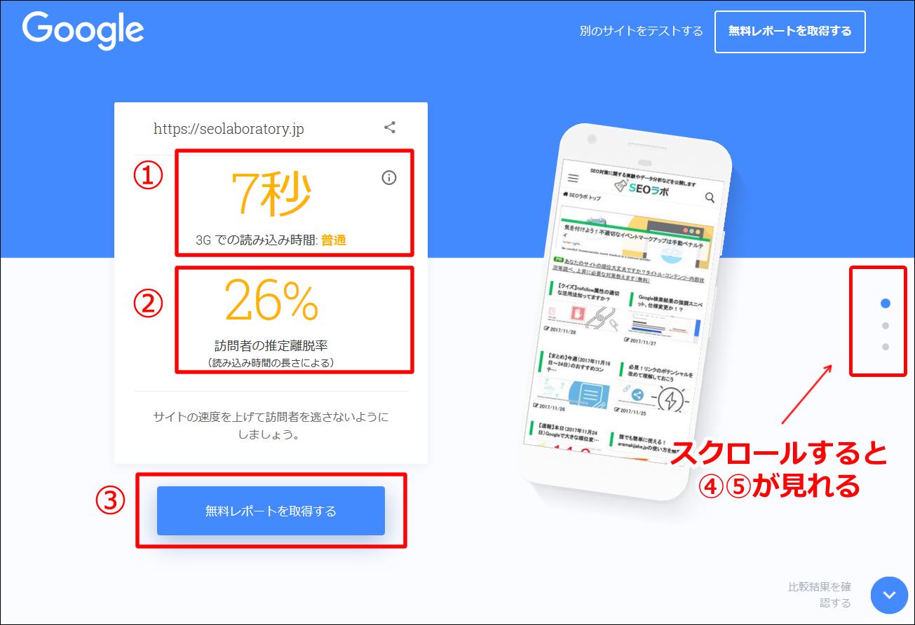 Test My Siteの使い方④
