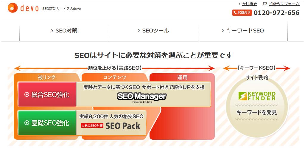 SEO対策会社「ディーボ」のコーポレートサイト
