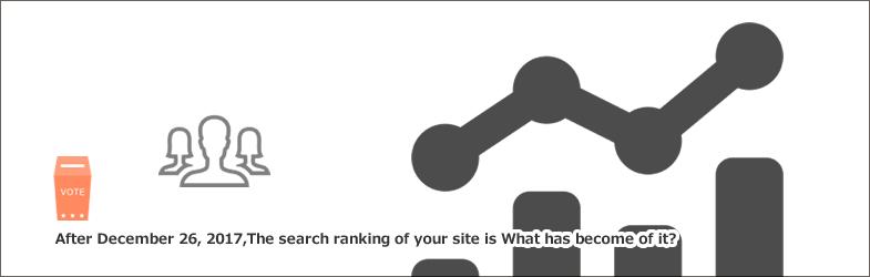 2017年12月26日以降、あなたのサイトの検索順位はどうなりましたか?