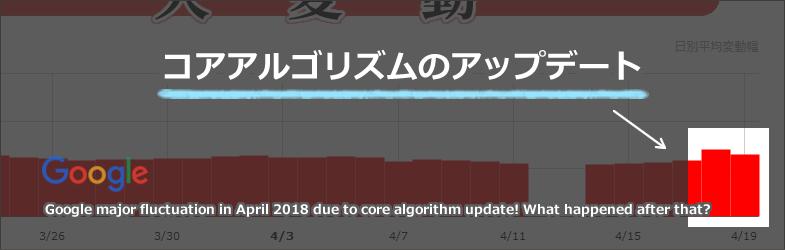 コアアルゴリズムのアップデートによる2018年4月のGoogle大変動!その後どうなった?