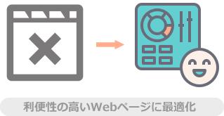 利便性の高いWebページに最適化