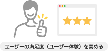 ユーザーの満足度(ユーザー体験)を高める