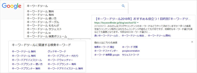Googleサジェスト機能