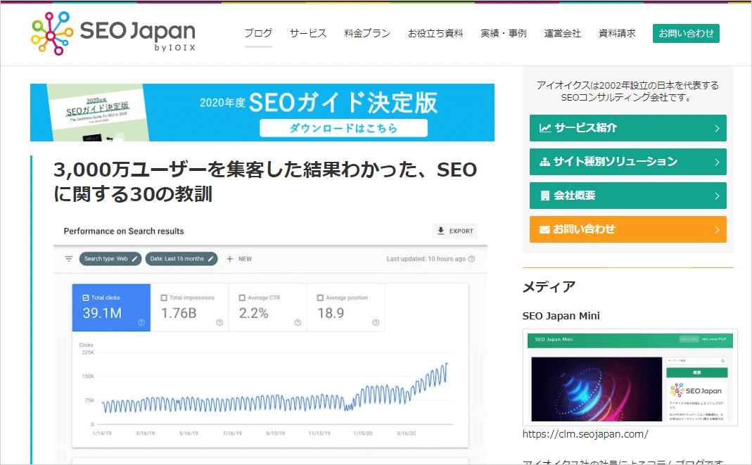 SEO Japan|アイオイクスのSEO・CV改善・Webサイト集客情報ブログ